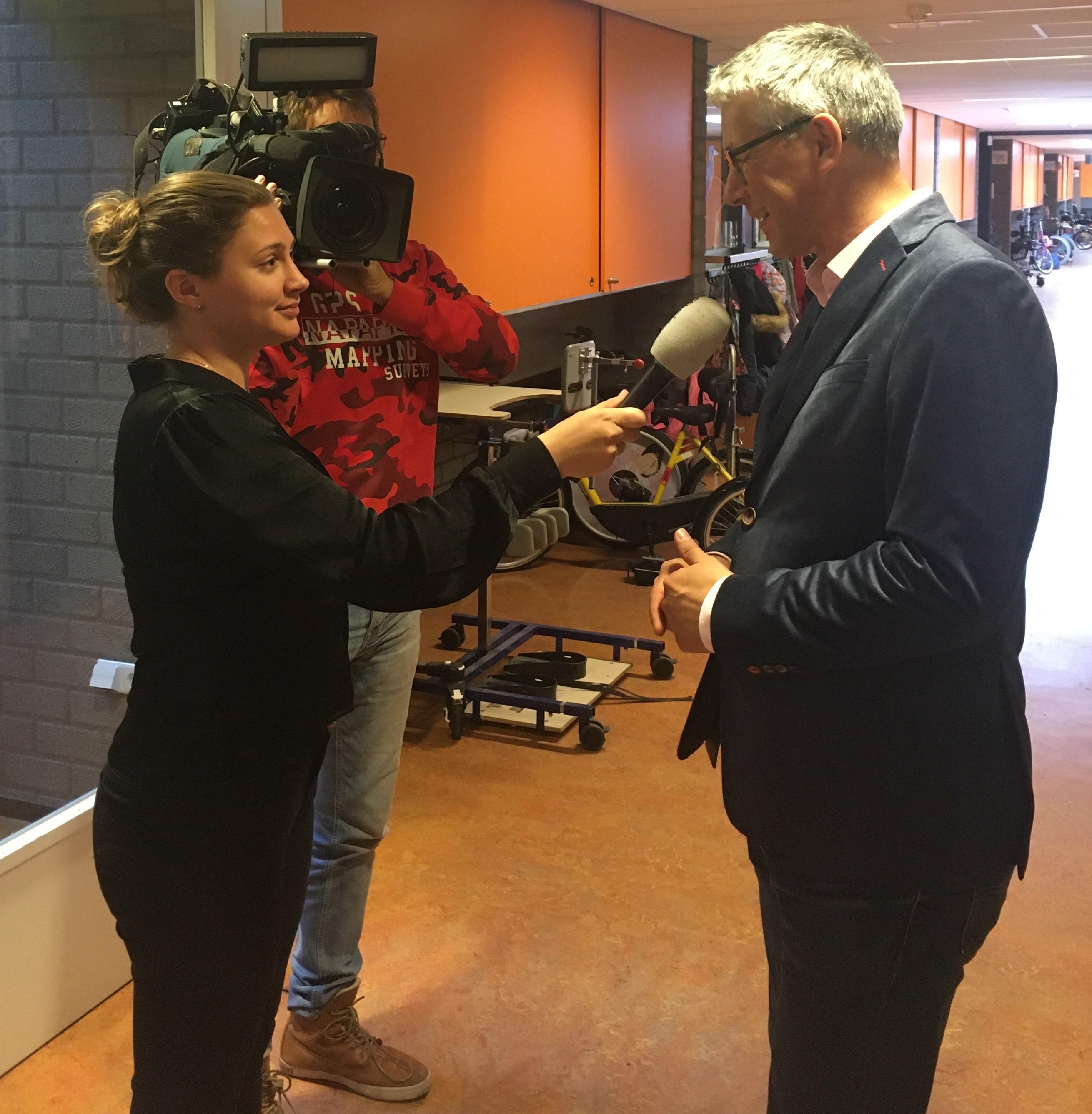RTL Nieuws op school over toestroom leerlingen